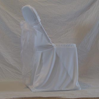 Folding Chair - White Chair Cover with White Bow